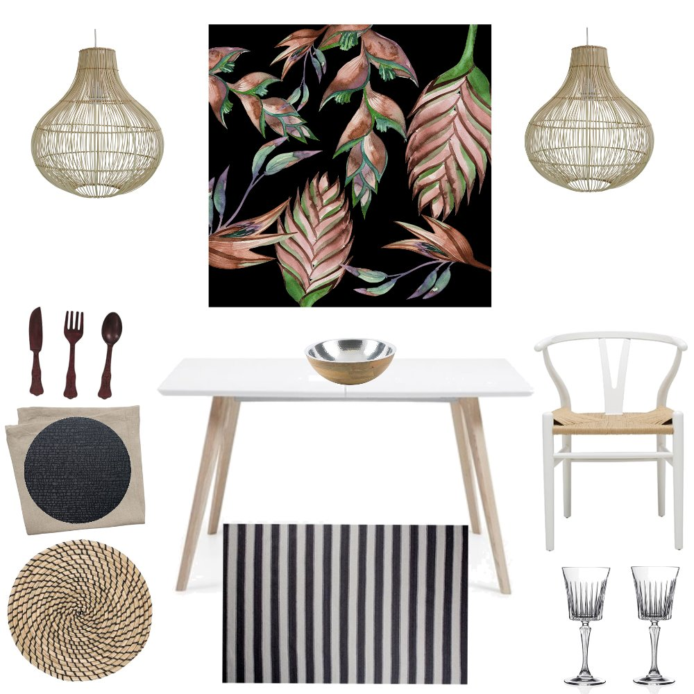 Relaxed dining Interior Design Mood Board by stylishlivingaustralia on Style Sourcebook