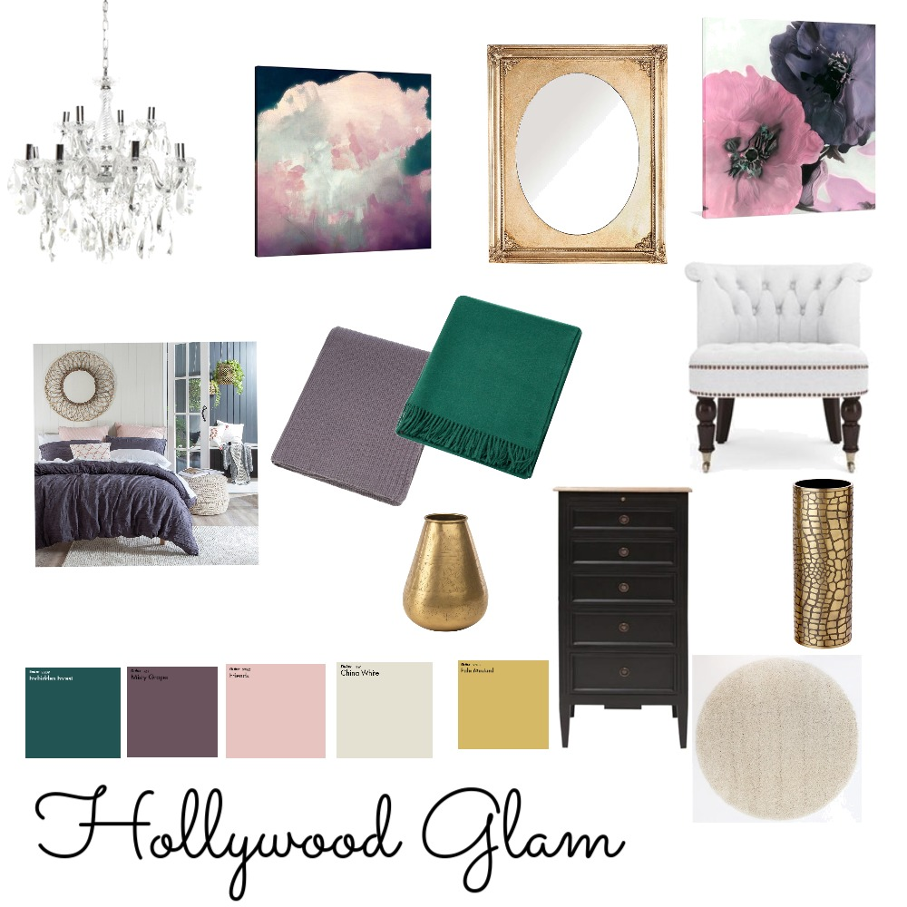 Hollywood Glam Interior Design Mood Board by michellelea on Style Sourcebook