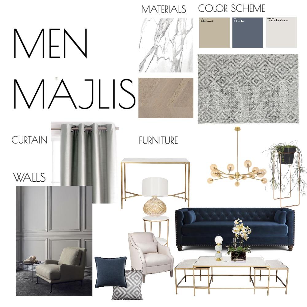Men Majlis Interior Design Mood Board by SARAALJARBOU on Style Sourcebook