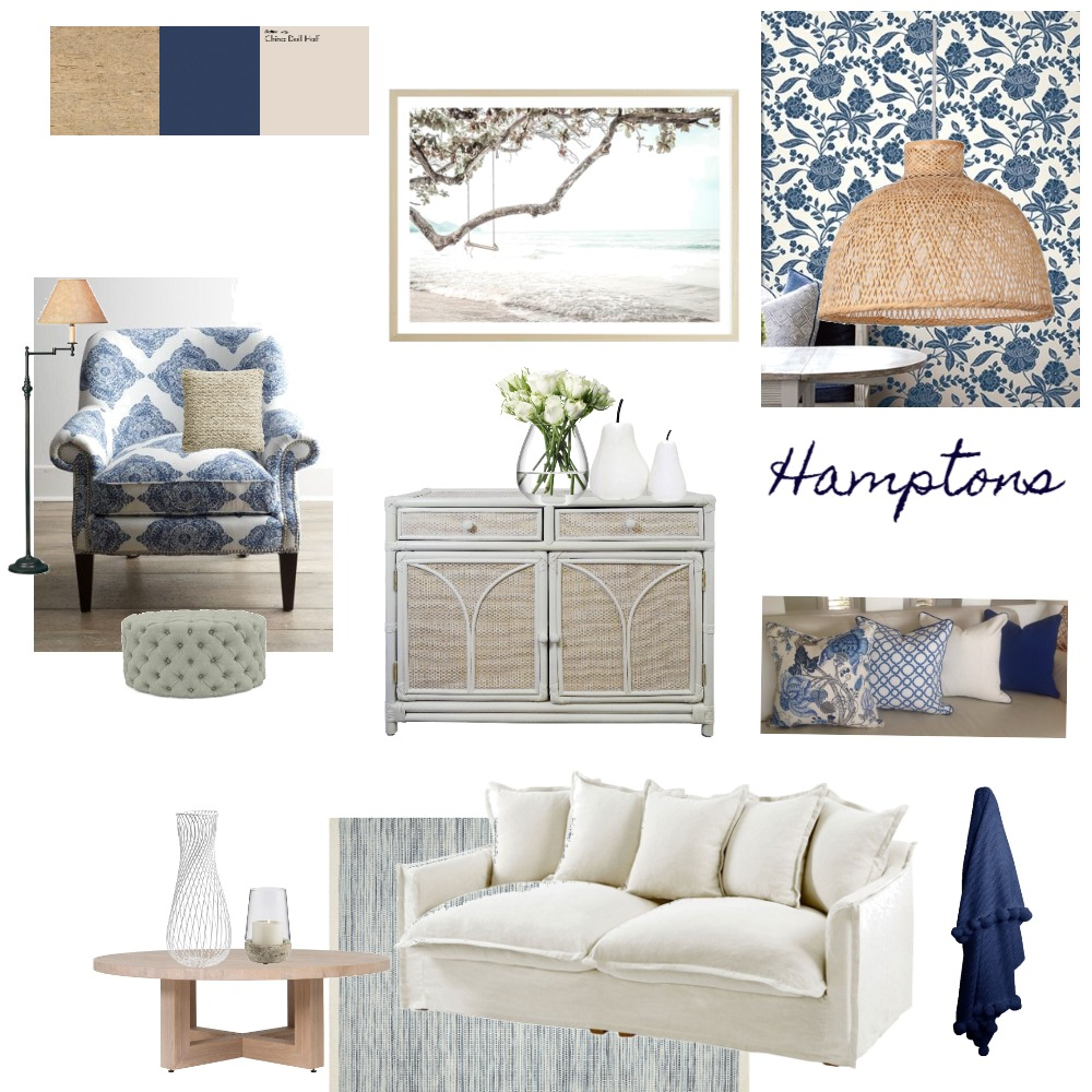 Hamptons Interior Design Mood Board by KateLT on Style Sourcebook