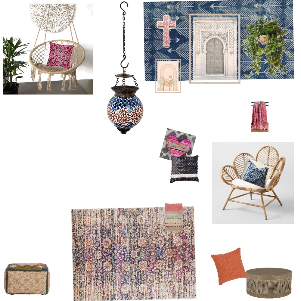 Boho Interior Design Mood Board by KateLT on Style Sourcebook