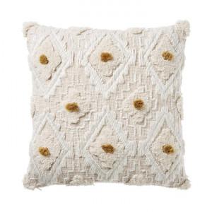 Adairs Mara Cushion 50x50cm Natural/Mustard - Naturalmus by Adairs, a Cushions, Decorative Pillows for sale on Style Sourcebook