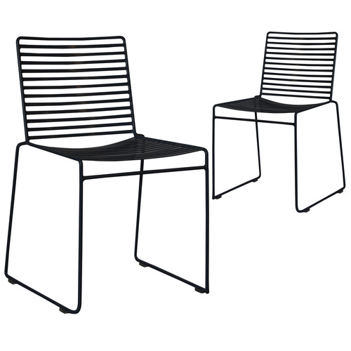 Set of 2 Black Club Wire Dining Chairs by Temple & Webster, a Dining Chairs for sale on Style Sourcebook