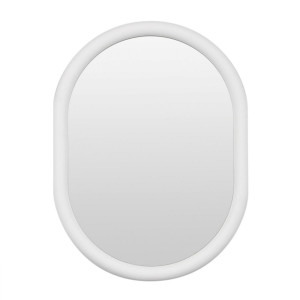 May Oval Mirror 75x100cm in Bright White by OzDesignFurniture, a Mirrors for sale on Style Sourcebook