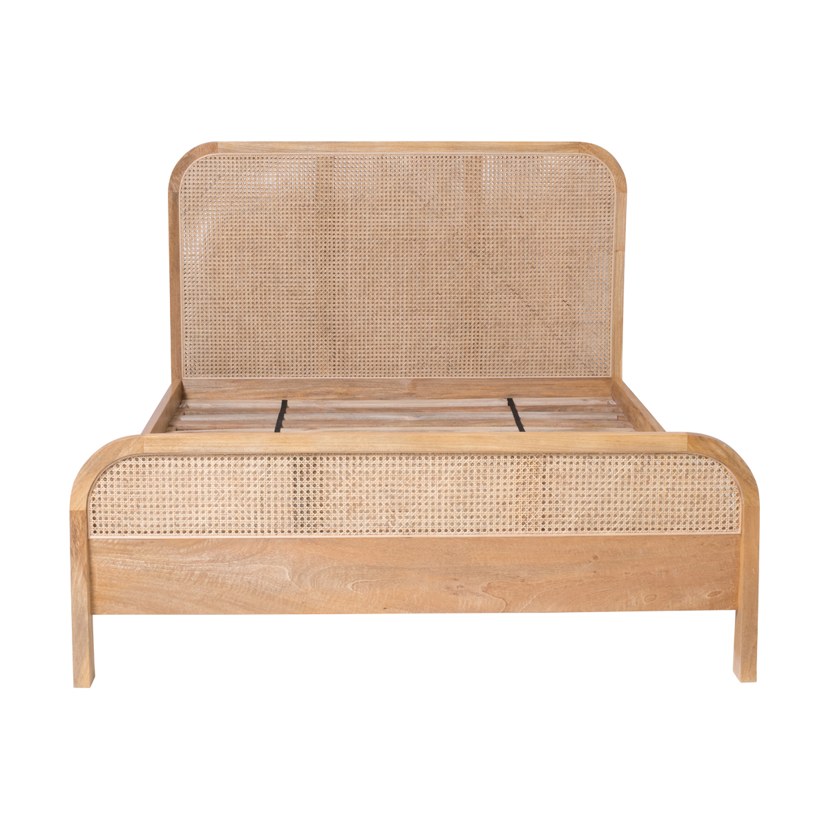 Willow Queen Bed in Mangowood/Clear Lacquer Rattan by OzDesignFurniture, a Beds & Bed Frames for sale on Style Sourcebook