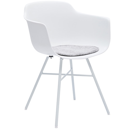 Classic Wooden Sofa Set, Set Of 2 Tova Metal Plastic Dining Chair With Arms Colour White By Temple Webster Style Sourcebook