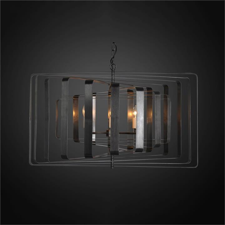 Bronte Metal Pendant Light, Large, Charcoal