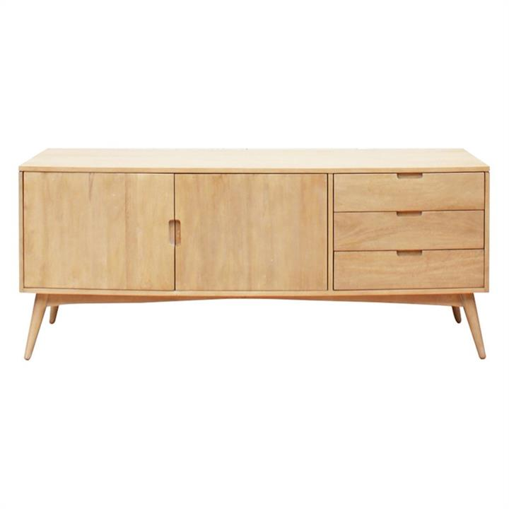 Molton Hand Crafted Mango Wood 2 Door 3 Drawer Sideboard, 170cm