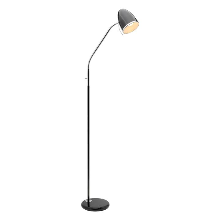 Sara Metal Floor Lamp, Black