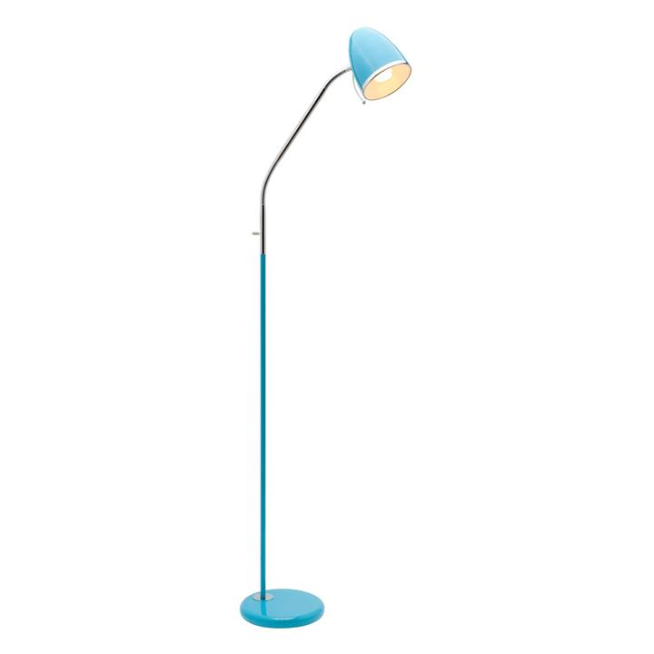 Sara Metal Floor Lamp, Blue