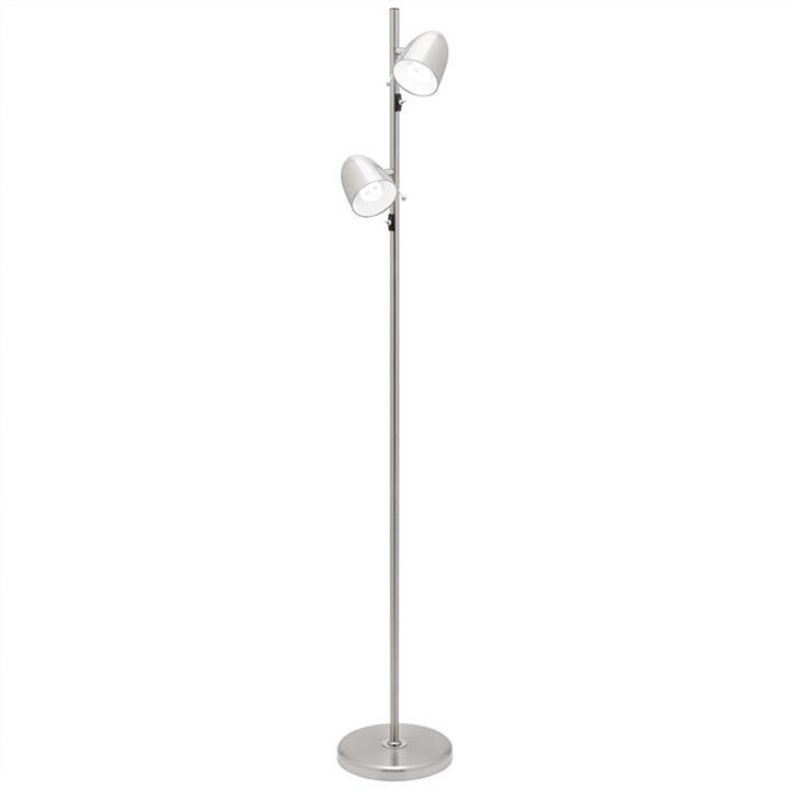 Sara 2 Light Metal Floor Lamp, Brushed Chrome