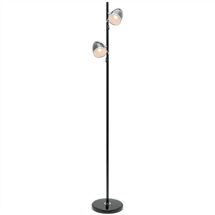 Sara 2 Light Metal Floor Lamp, Black