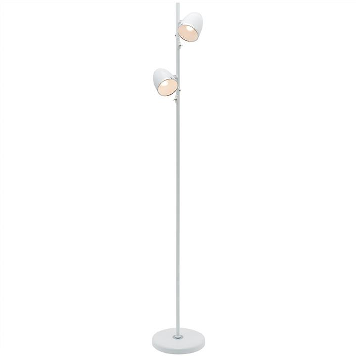 Sara 2 Light Metal Floor Lamp, Whie