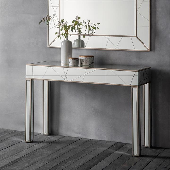 Hoyton Mirrored Console Table