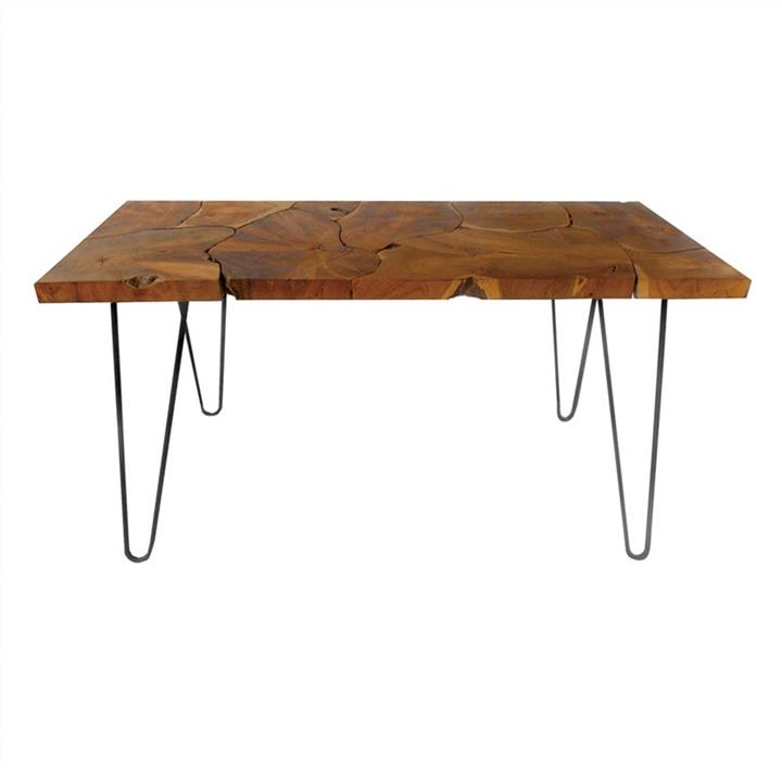 Tivon Teak Timbe Console Table, 120cm