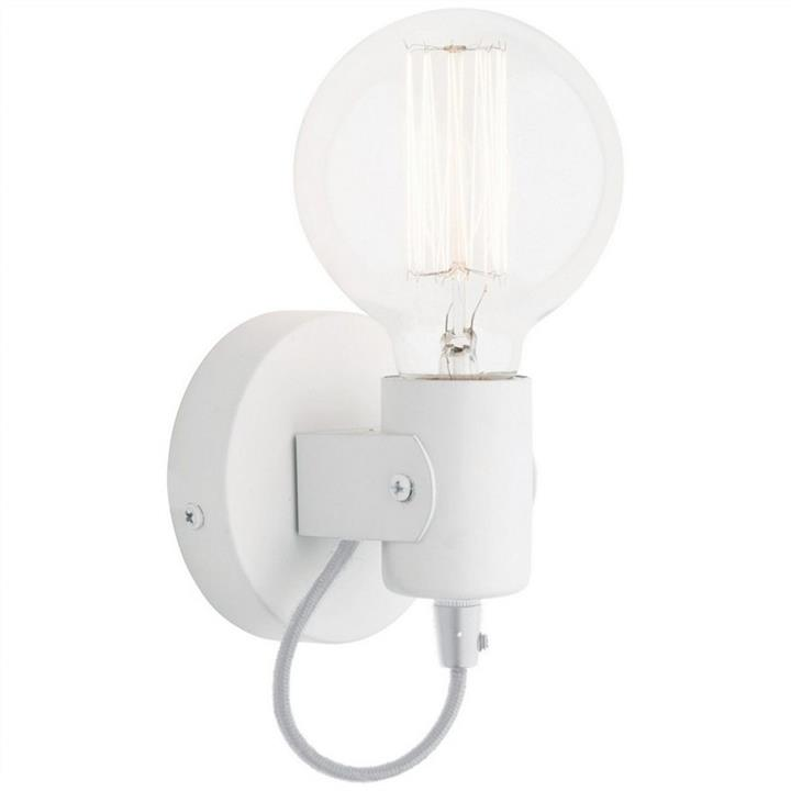Bronte Metal Wall Light, White