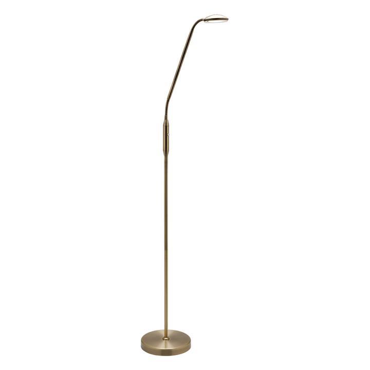 Dylan Metal LED Floor Lamp, Antique Brass
