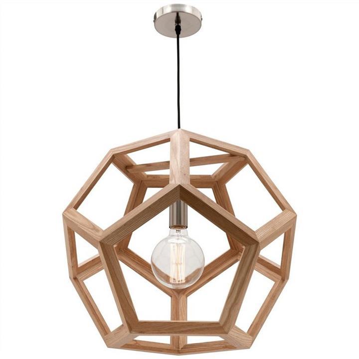 Peeta Timber Pendant Light, Large