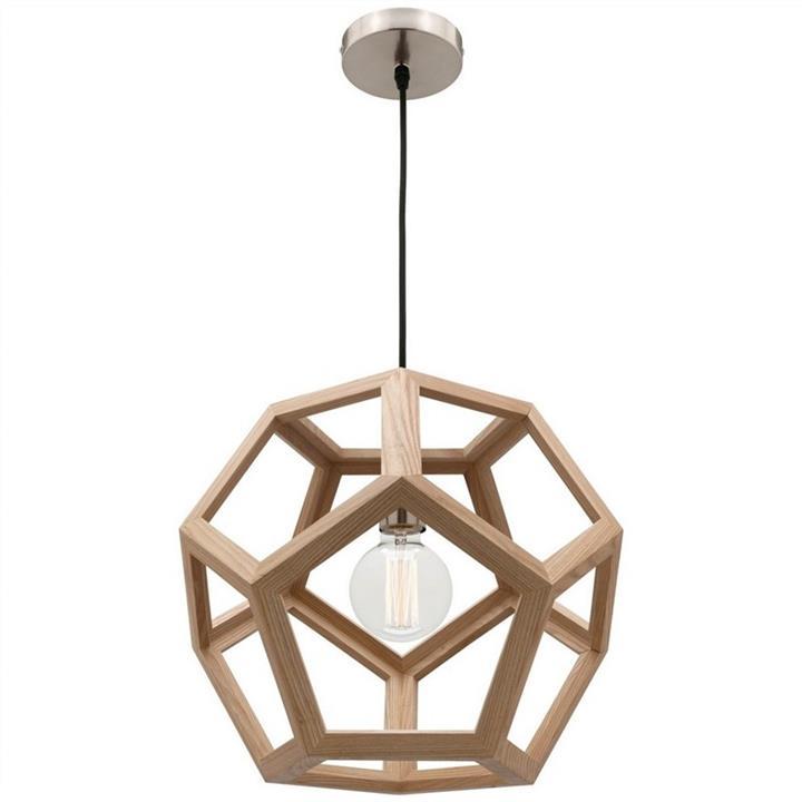 Peeta Timber Pendant Light, Small