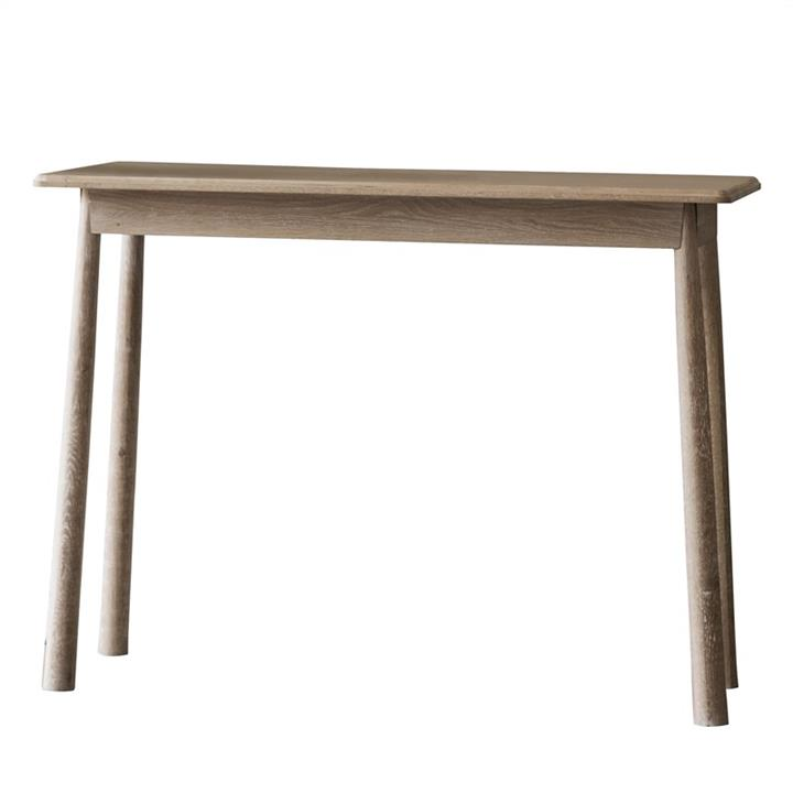 Willem Oak Timber Console Table, Natural