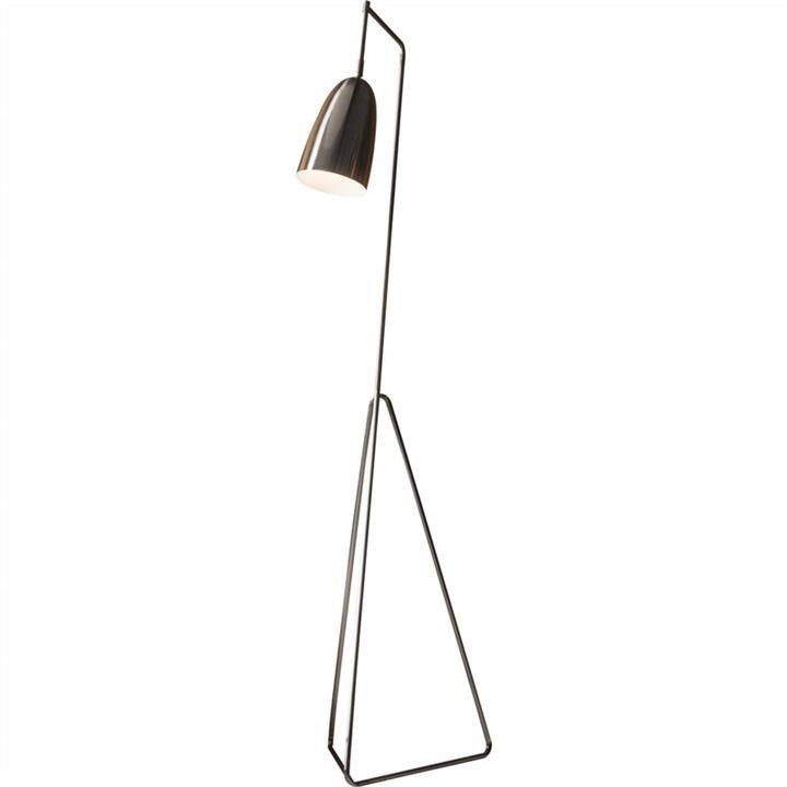 Vallen Metal Floor Lamp, Chrome