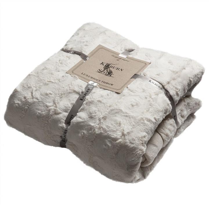 Kilburn & Scott Leah Faux Fur Throw, Cream