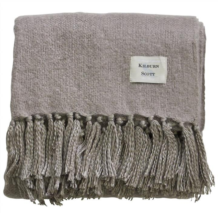 cacey Faux Mohair Throw, Natural