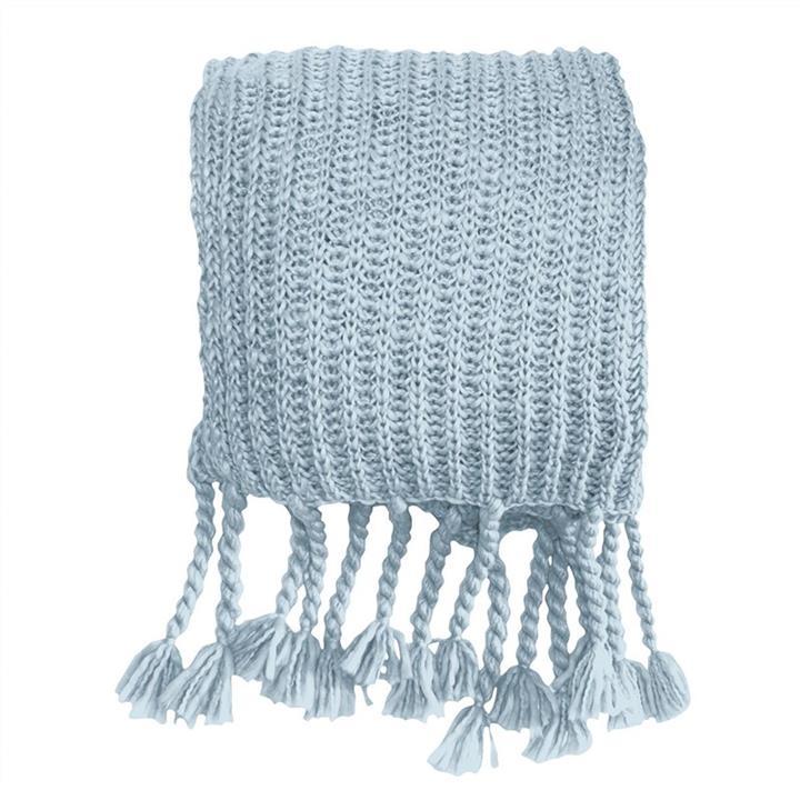Salisbury Knitted Chunky Throw, Blue