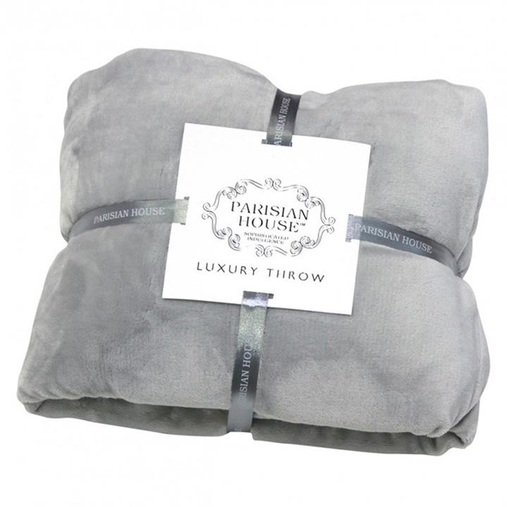 Parisian House Flannel Fleece Throw, Grey