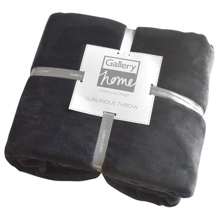 Parisian House Flannel Fleece Throw, Charcoal