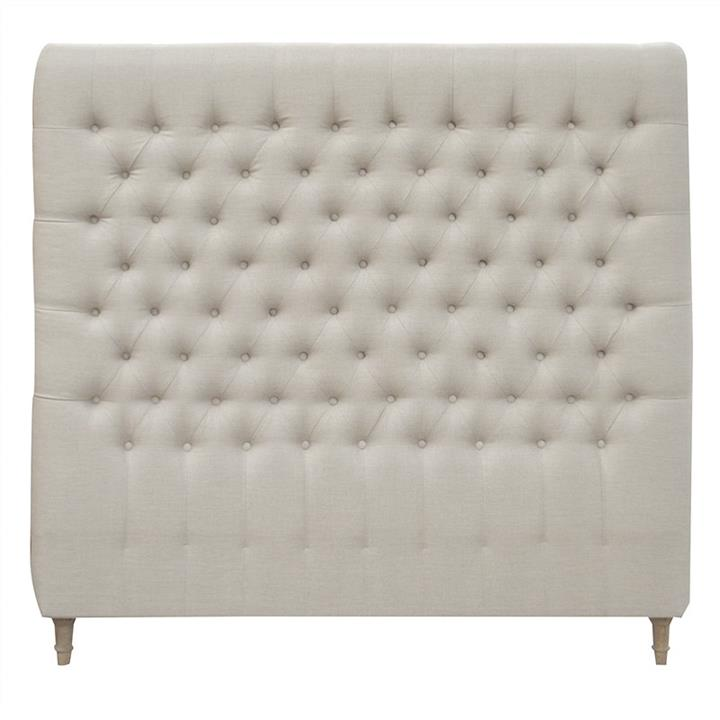 Chesterfield Tufted Linen Bed Headboard, Queen, Oatmeal