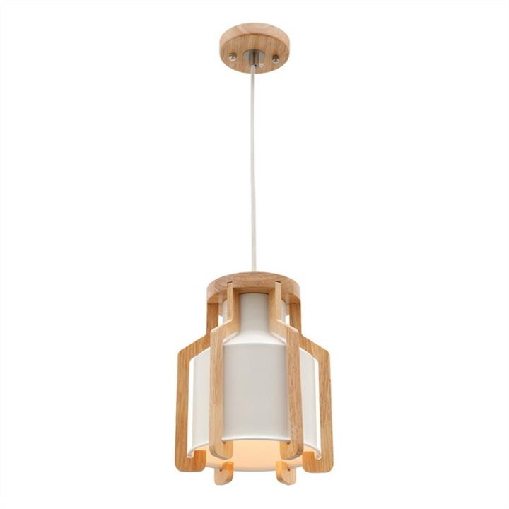 Fiesta Timber & Metal Pendant Light, White