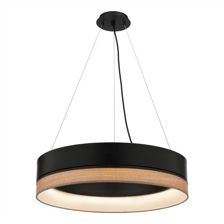 Fitzgerald Metal Shade LED Pendant Light, Black