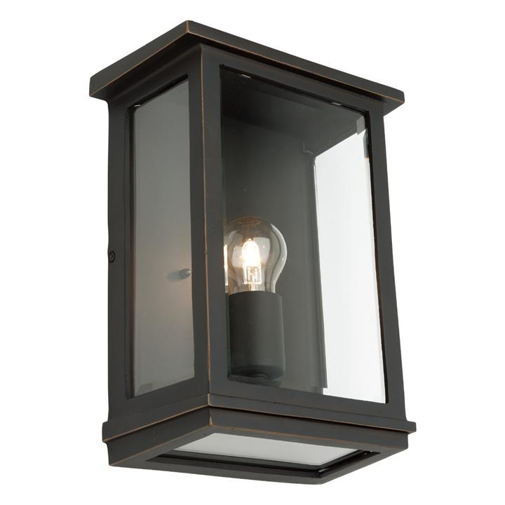 Madrid IP44 Exterior Wall Lantern, Large, Bronze