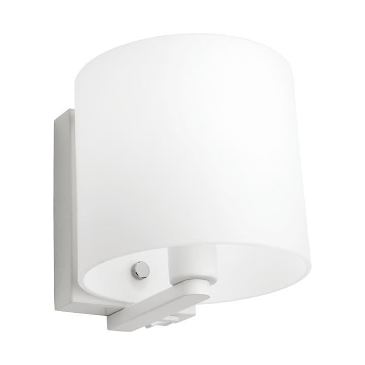 Tida Glass Shade Wall Light, White