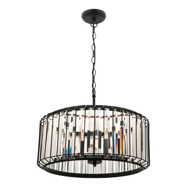 Olympia Metal & Glass Pendant Light, 4 Light