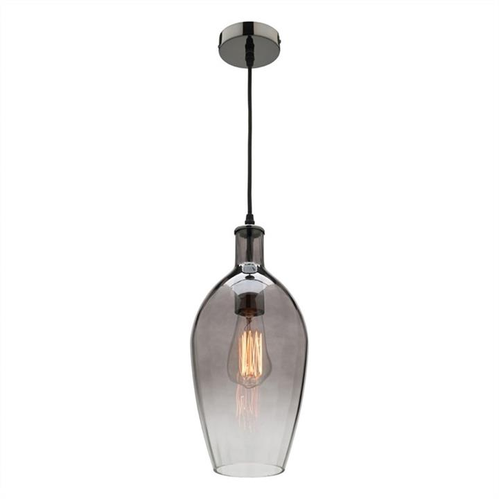 Belmont Glass Shade Pendant Light, Smoke