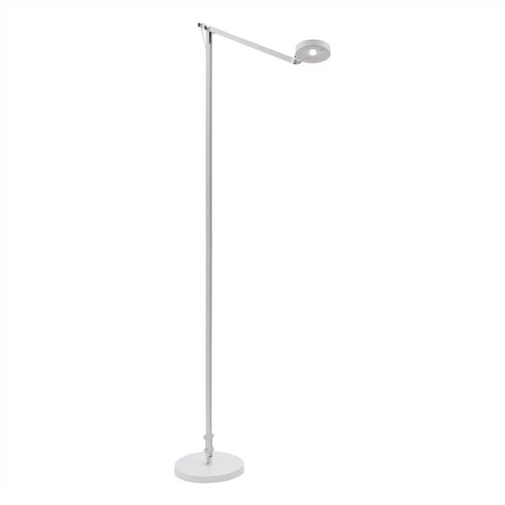 Axel Adjustable LED Floor Lamp, White