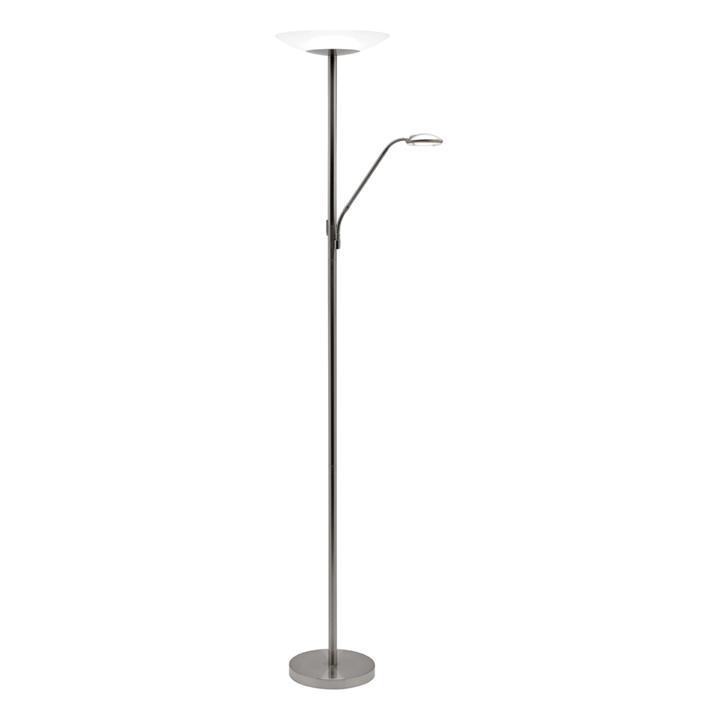 Emilia Mother & Child LED Floor Lamp, Brushed Chrome