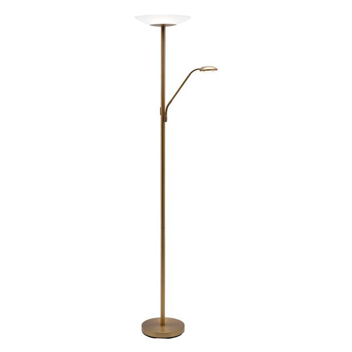 Emilia Mother & Child LED Floor Lamp, Aged Brass