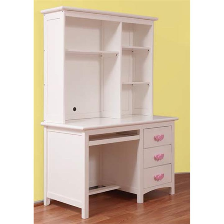 Hearts Wooden Desk with Hutch