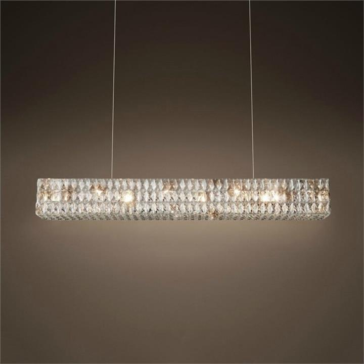 Ritz Rectangular Glass Pendant Light