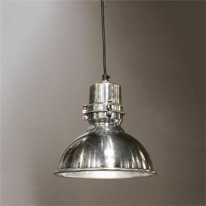 Augusta Metal Pendant Light, Medium, Antique Silver