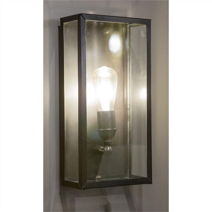 Goodman Metal & Glass Wall Light, Black