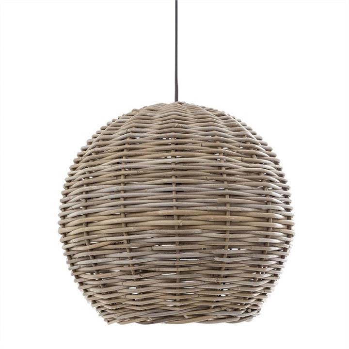 Buckton Round Rattan Pendant Light, 40cm