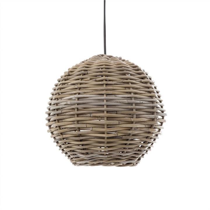 Buckton Round Rattan Pendant Light, 30cm
