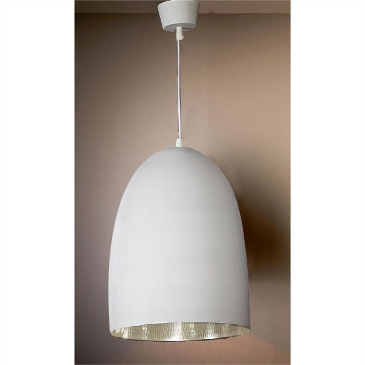 Washington Metal Pendant Light, White/Silver