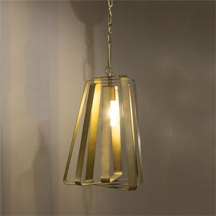 Mona Vale Metal Spiral Pendant Light, Brass