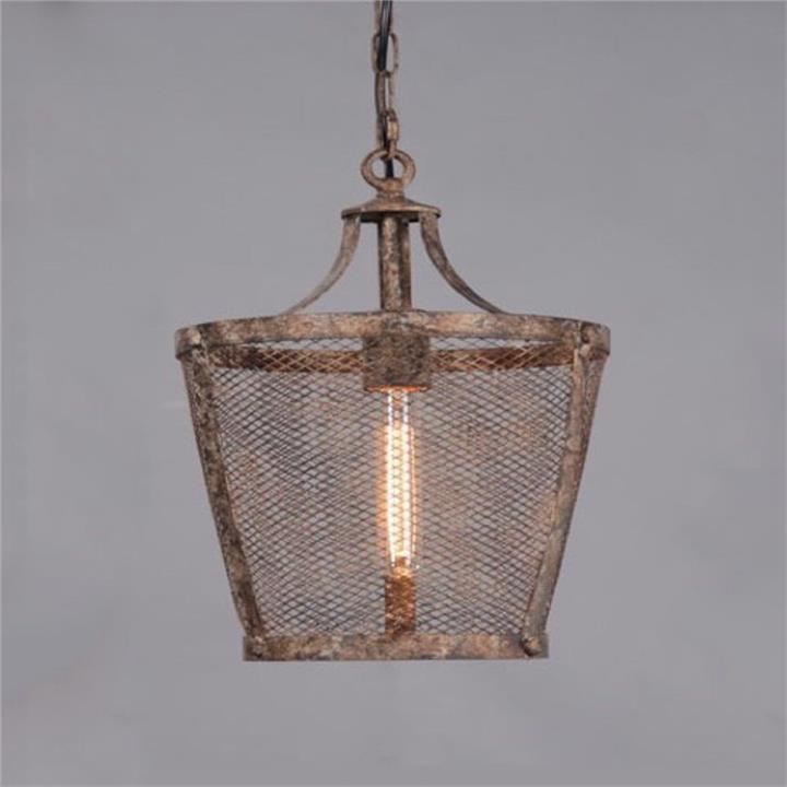 Fabio Rustic Metal Pendant Light, Large