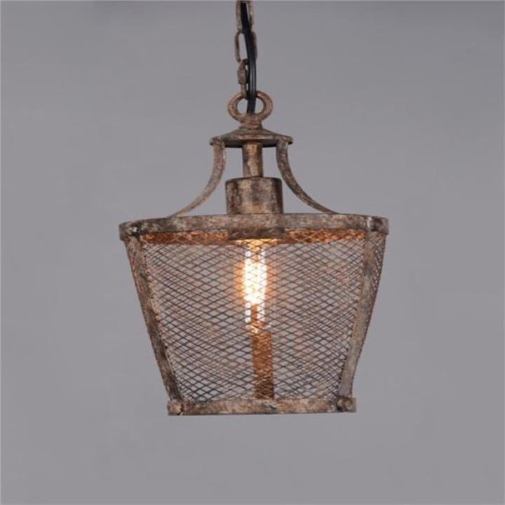 Fabio Rustic Metal Pendant Light, Medium